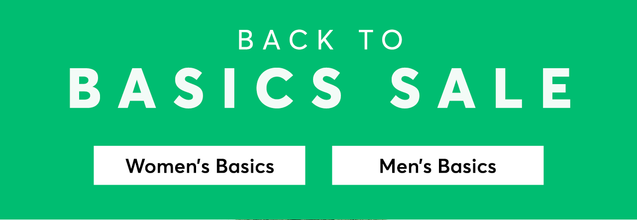 Back to Basics Sale
