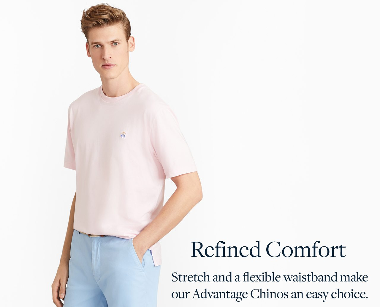 Refined Comfort - Stretch and a flexible waistband make our Advantage Chinos an easy choice.