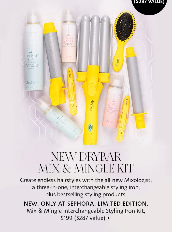 Drybar Mix & Mingle Mixologist Interchangeable Styling Iron Set