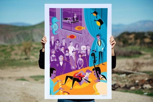 MCFLY Back to the Future Art Print by Shag from 3D Retro