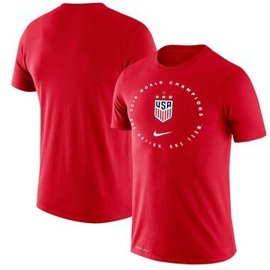 USWNT Nike 2019 FIFA Women's World Cup Champions Legend T-Shirt – Red