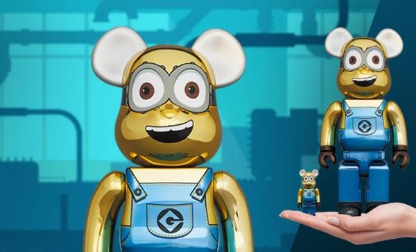 Be@rbrick Dave (Chrome Version) 100% & 400% Collectible Set by Medicom Toy