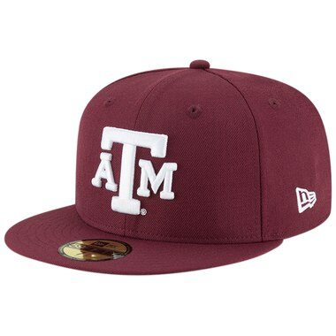 Texas A&M Aggies New Era Basic 59FIFTY Fitted Hat - Maroon