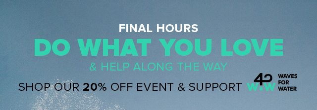 Last Chance for 20% Off + Support Waves For Water - TUMI