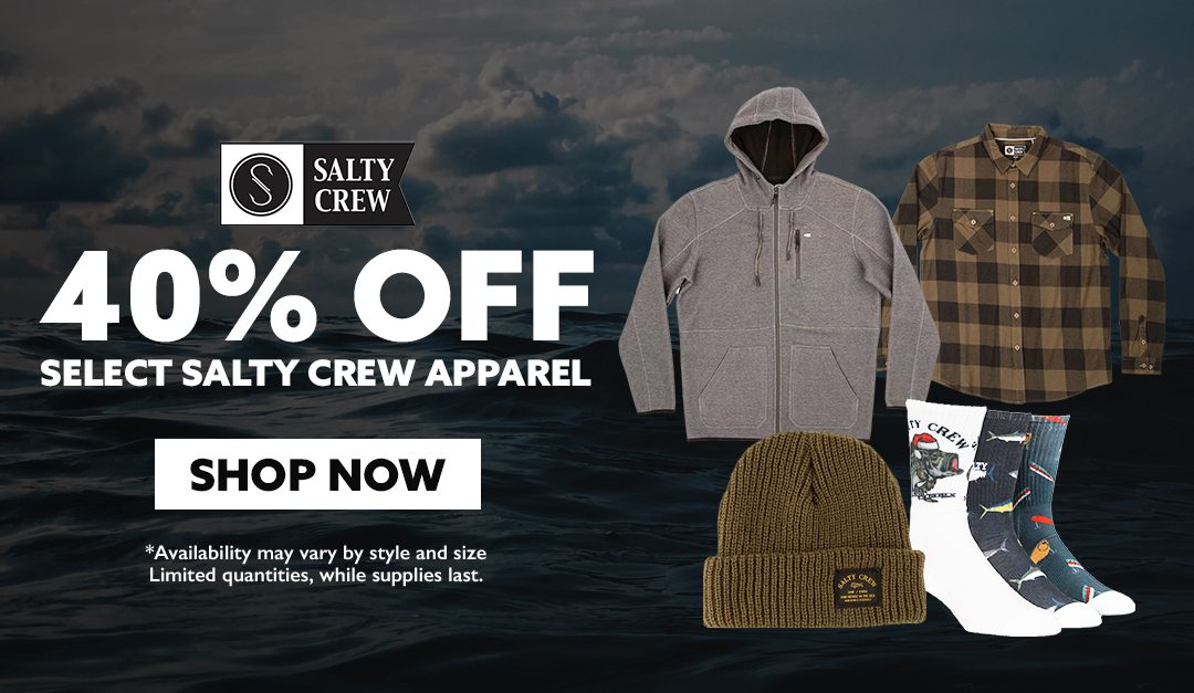 40% OFF Select Salty Crew Apparel