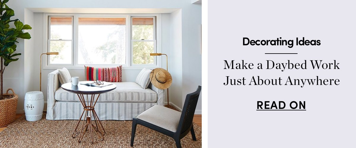 Make a Daybed Work Just About Anywhere