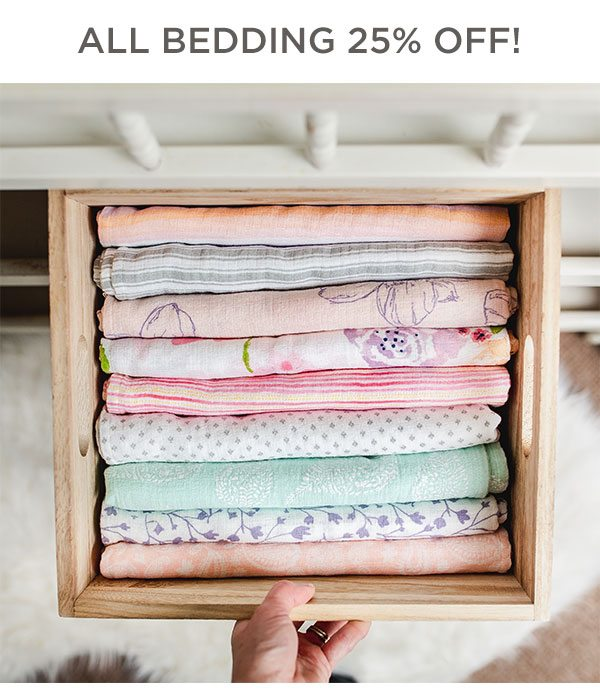 All bedding 25% off!