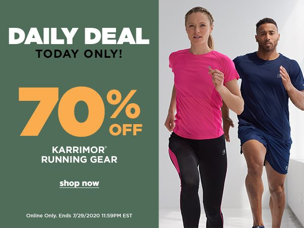 Daily Deal: 70% OFF Karrimor Running Gear - Online Only - Click to Shop