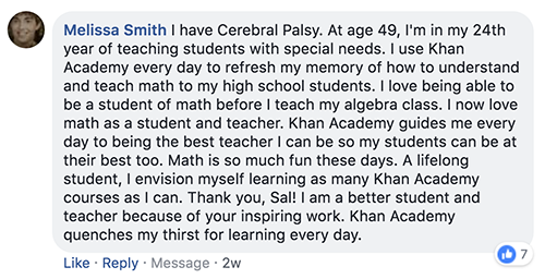 This will make you feel good - Khan Academy Email Archive