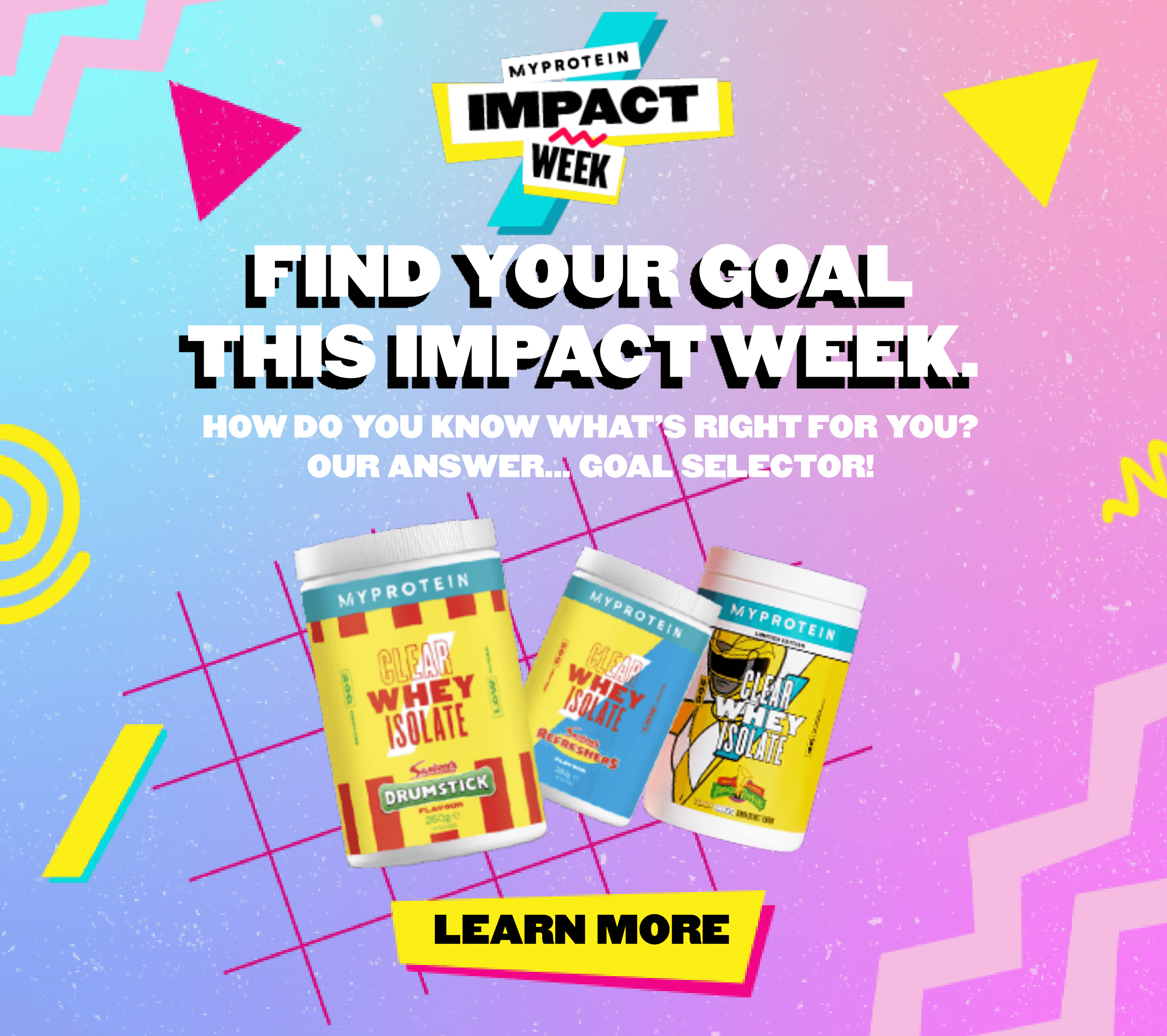 Find your goal this Impact week - Find out whats right for you!