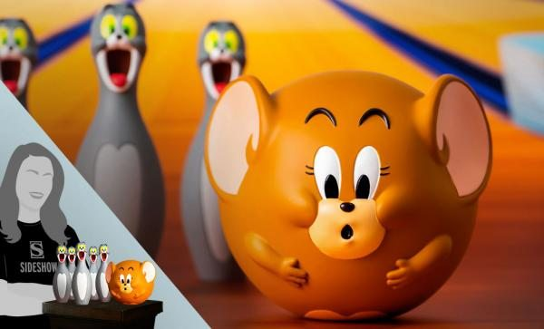 Tom and Jerry Bowling Figures Collectible Set by Soap Studio