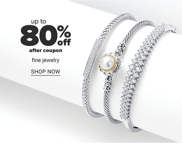 Up to 80% off after coupon fine jewlry. Shop Now.