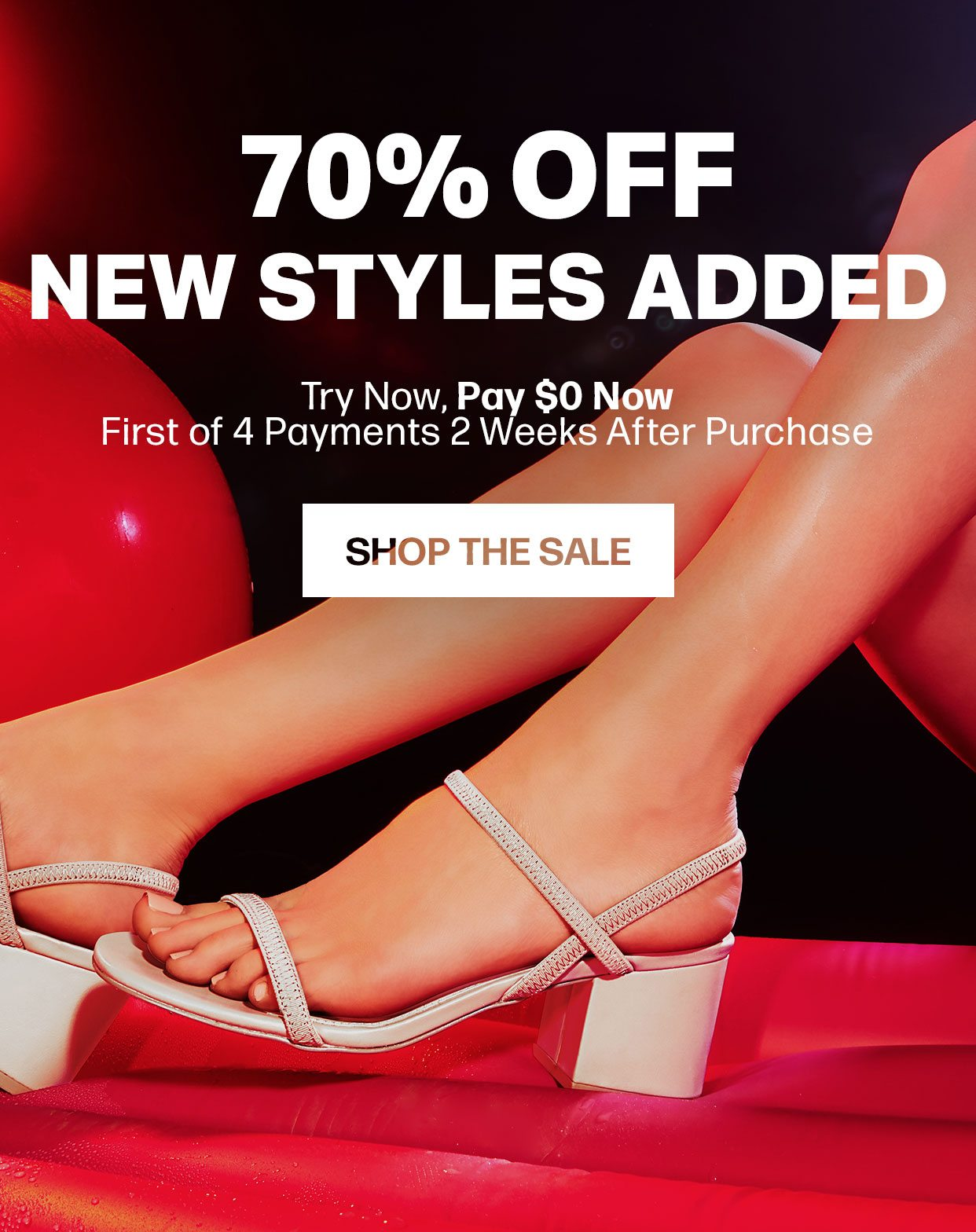 70% Off New Styles Added