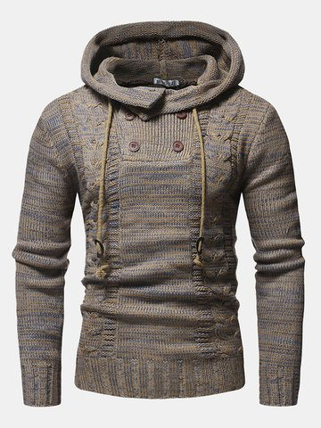 Ethnic Printing Knitting Hooded Sweaters