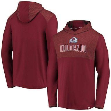Fanatics Branded Colorado Avalanche Burgundy Iconic Marbled Clutch Pullover Hoodie