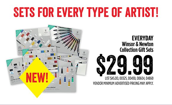 Sets for every type of artist! Everyday low price: Winsor & Newton Collection Gift Sets - $29.99