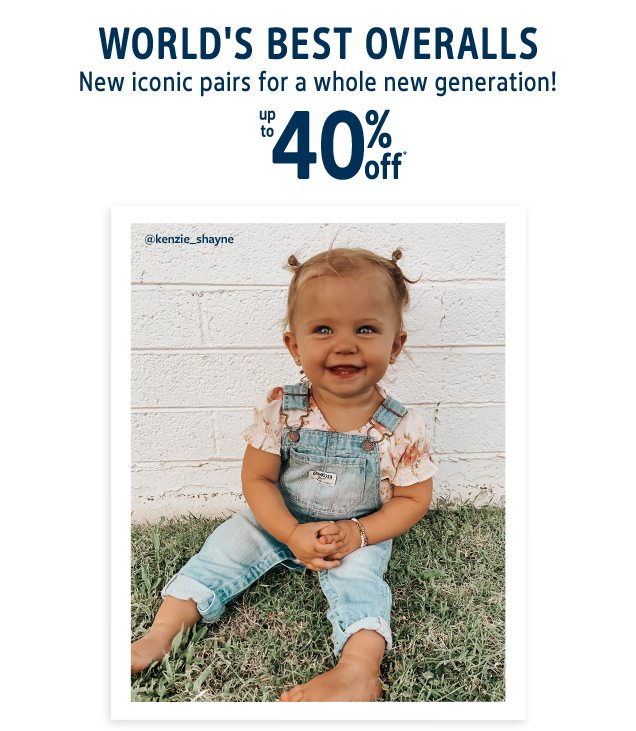 WORLD'S BEST OVERALLS | New iconic pairs for a whole new generation! | up to 40% off* | @kenzine_shayne