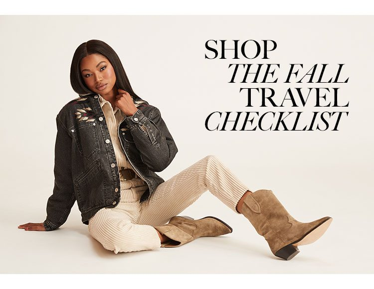Shop The Fall Travel Checklist