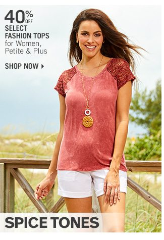 Shop 40% Off Select Fashion Tops for Women, Petite & Plus