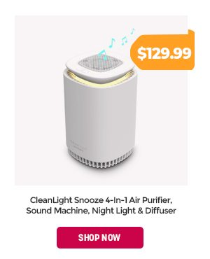 CleanLight Snooze 4-In-1 Air Purifier, Sound Machine, Night Light & Diffuser