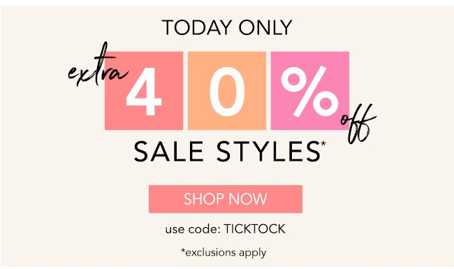 Extra 40% off sale