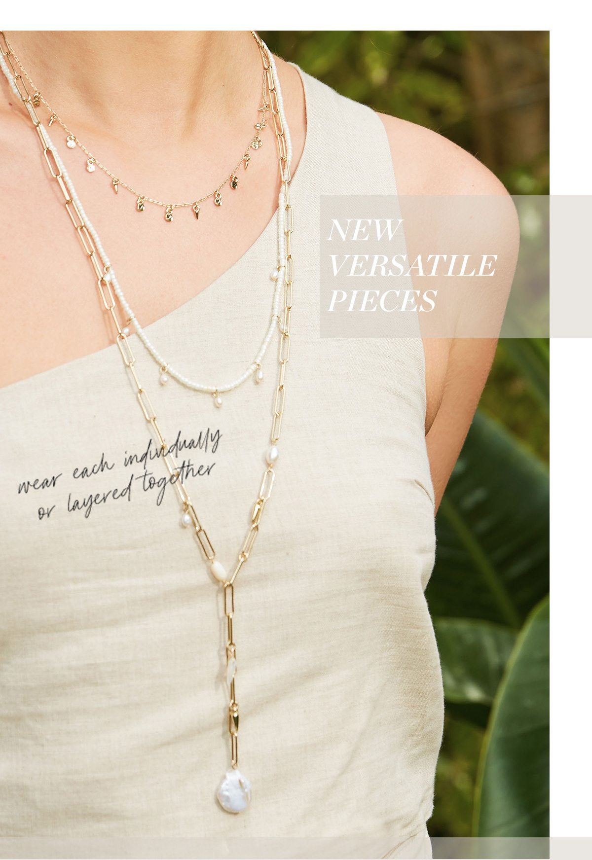 Triple Layered Necklace, so much versatility