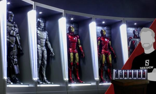 Iron Man Hall of Armor Miniature Collectible Set by Hot Toys