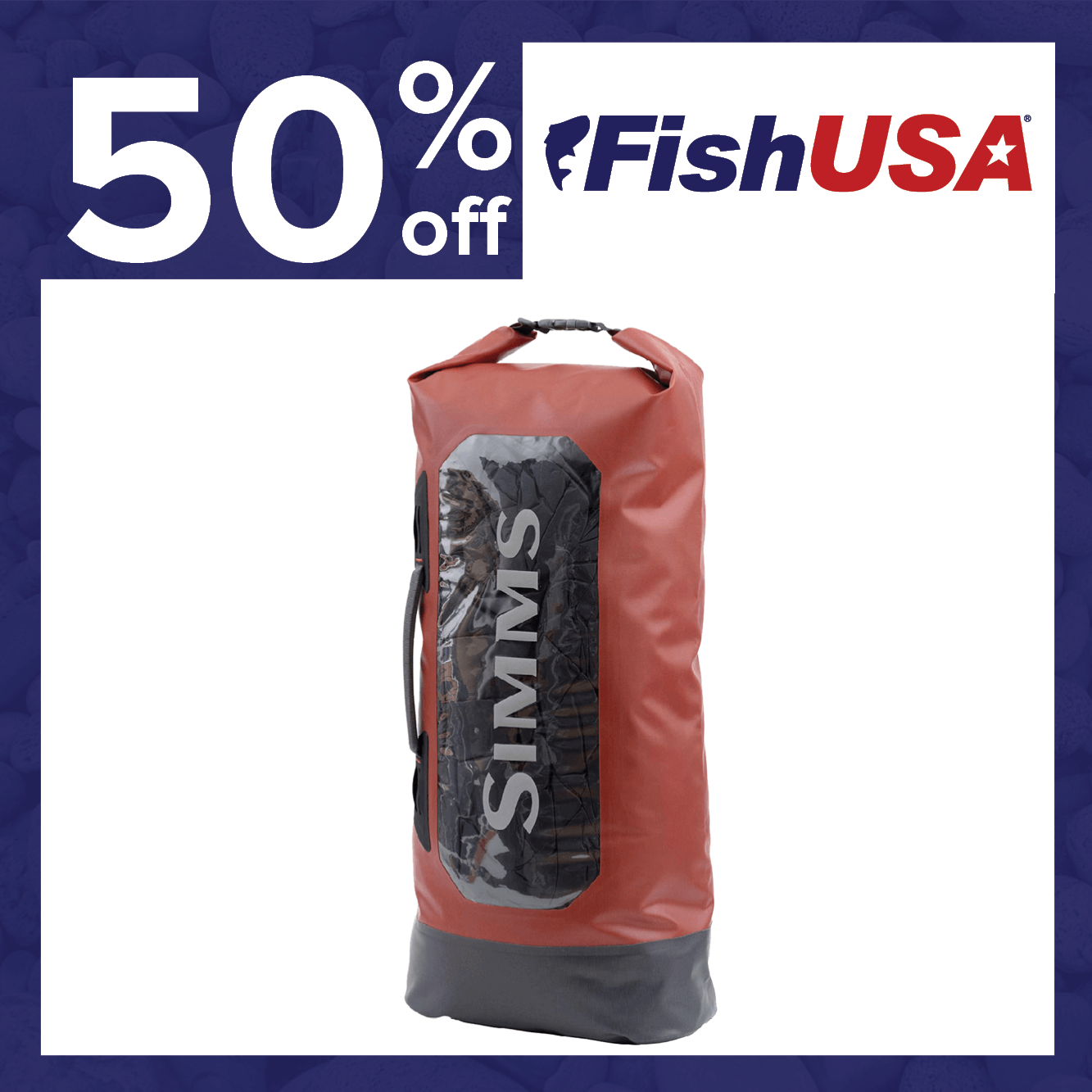 50% off the Simms Dry Creek Roll-Top Bag