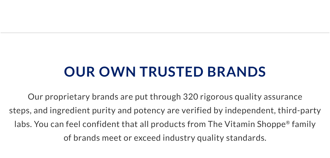Our Own Trusted Brands