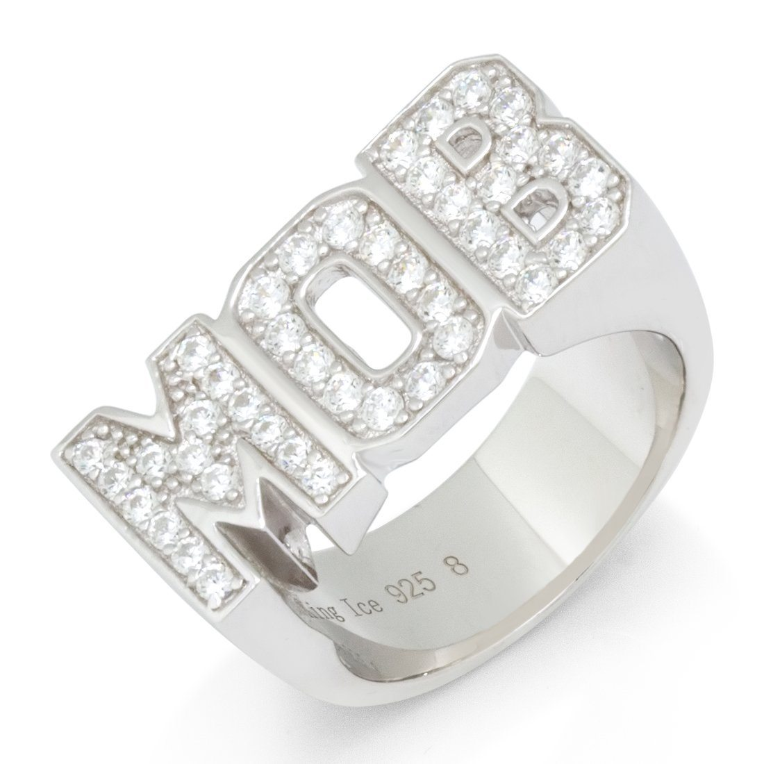 Image of The .925 Sterling Silver White Gold M.O.B Ring