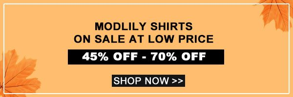 Modlily Shirts On Sale At Low Price