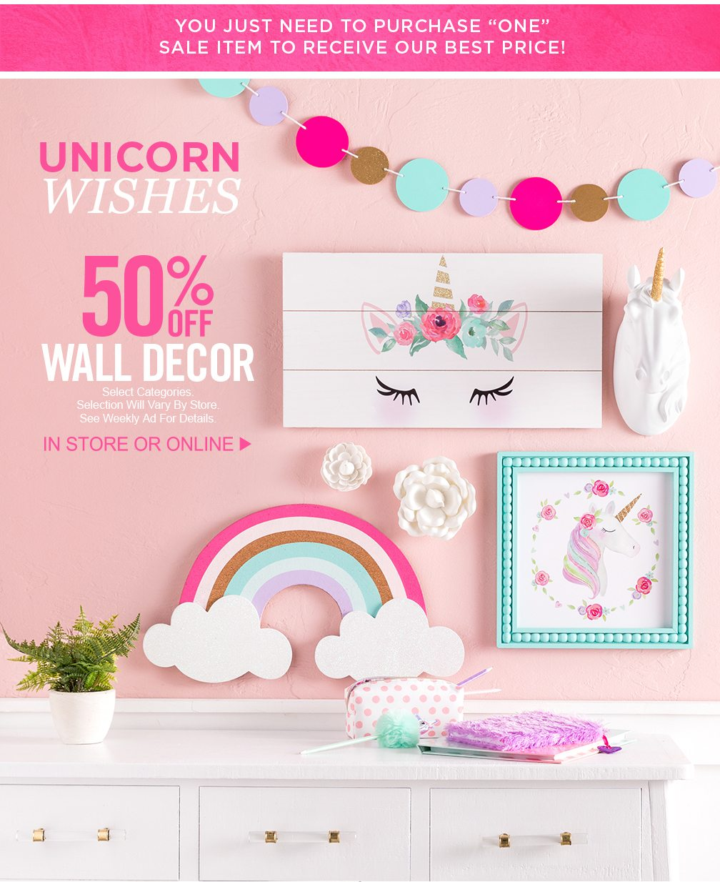 🌈 Make Her Room a Dream Come True - Hobby Lobby Email Archive