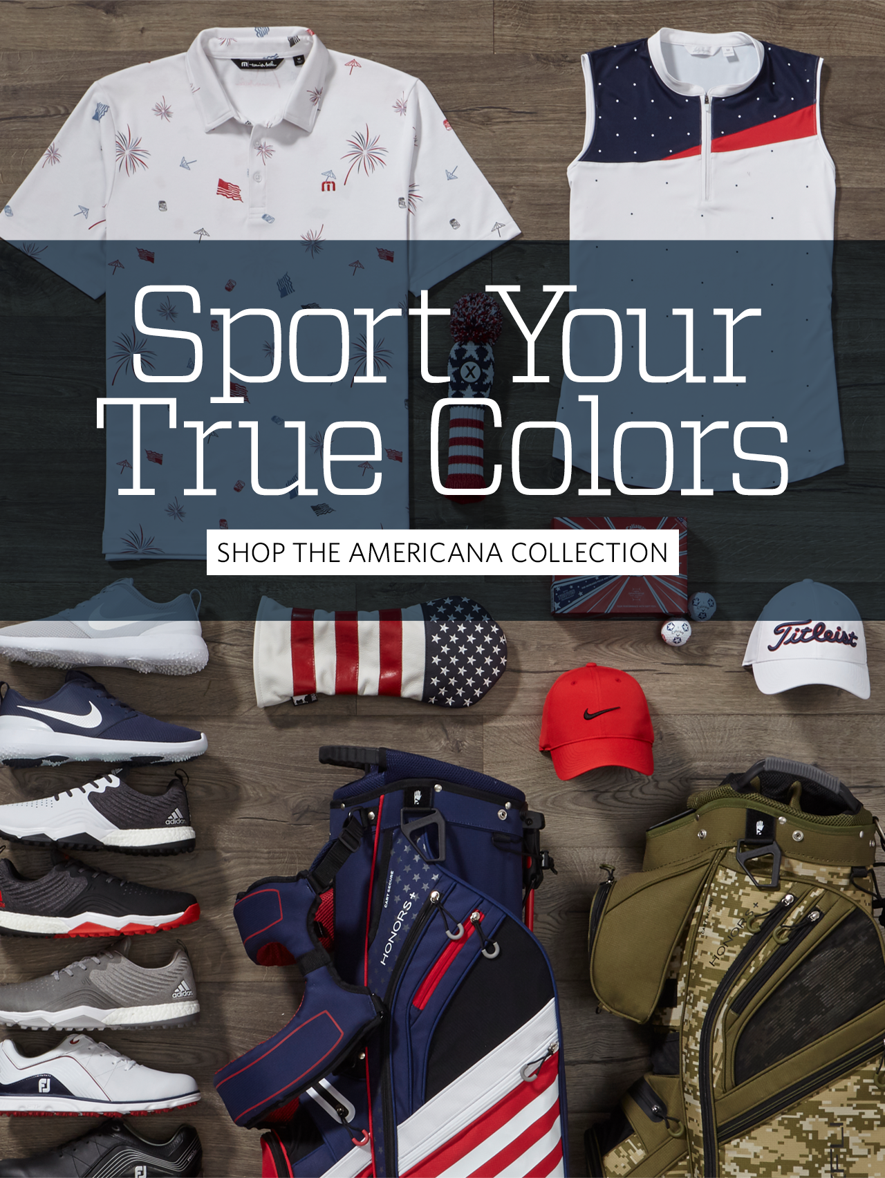 Sport your true colors with americana apparel and accessories