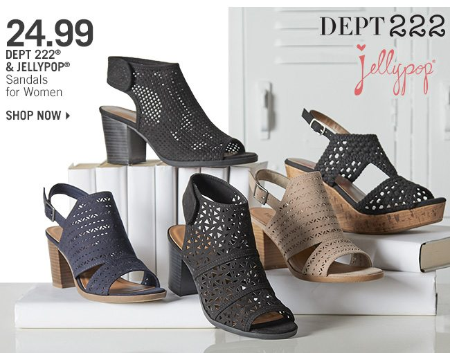 Shop 24.99 Dept 222 & Jellypop Sandals for Women