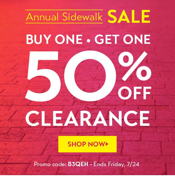 BOGO 50% off Clearance