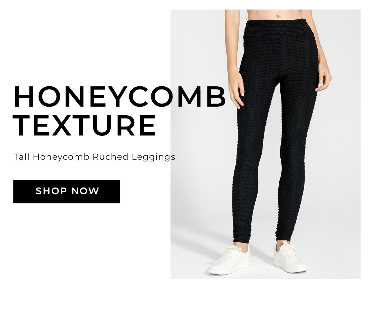 Honeycomb Texture Tall Honeycomb Ruched Leggings
