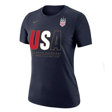 USWNT Nike Women's 2019 FIFA Women's World Cup Champions T-Shirt – Navy