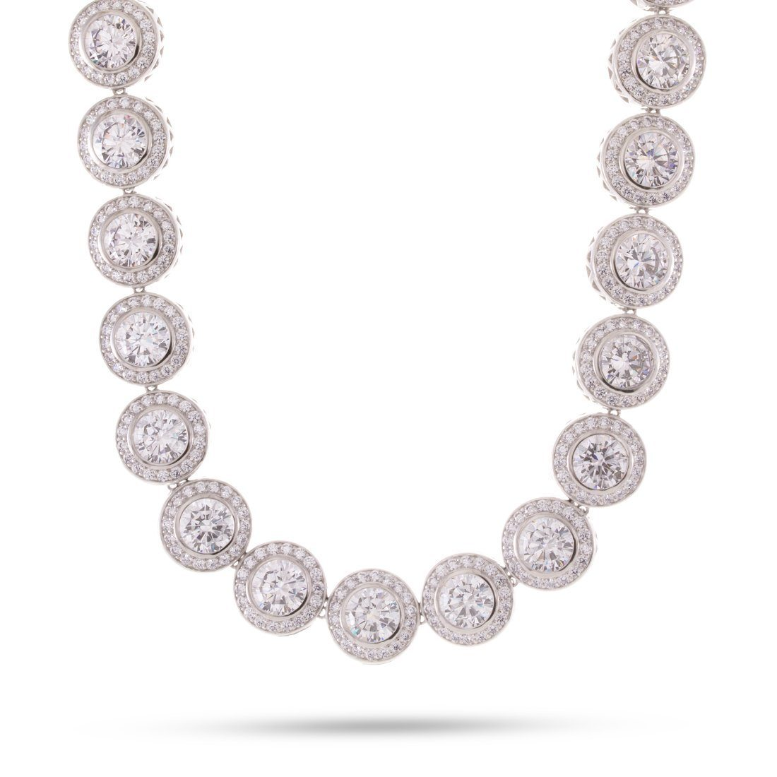 White Gold Bezel Necklace
