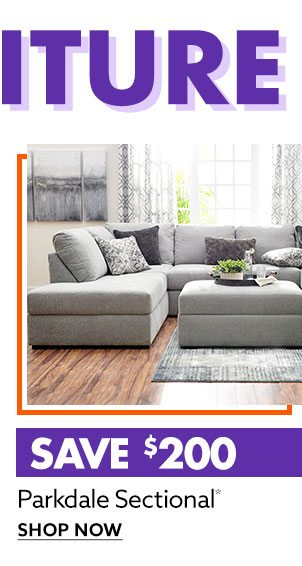 Save $200 on Parkdale Sectional