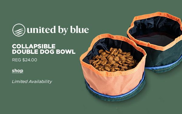 United by Blue Collapisible Double Dog Bowl - Click to Shop