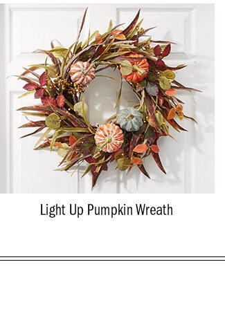 Light Up Pumpkin Wreath