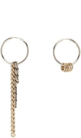 Justine Clenquet - Silver & Gold Jane Bicolor Earrings