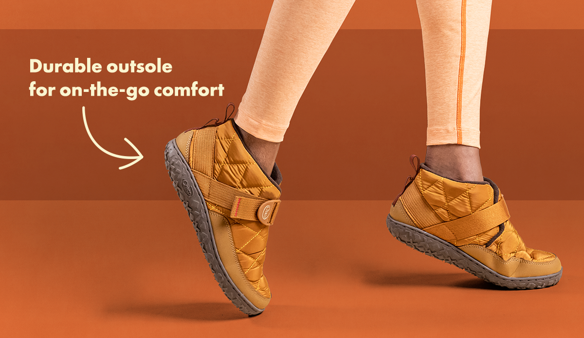 Durable outsole for on-the-go comfort