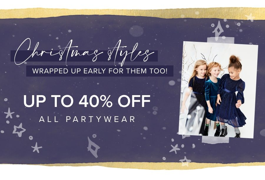 Up to 40% off all partywear