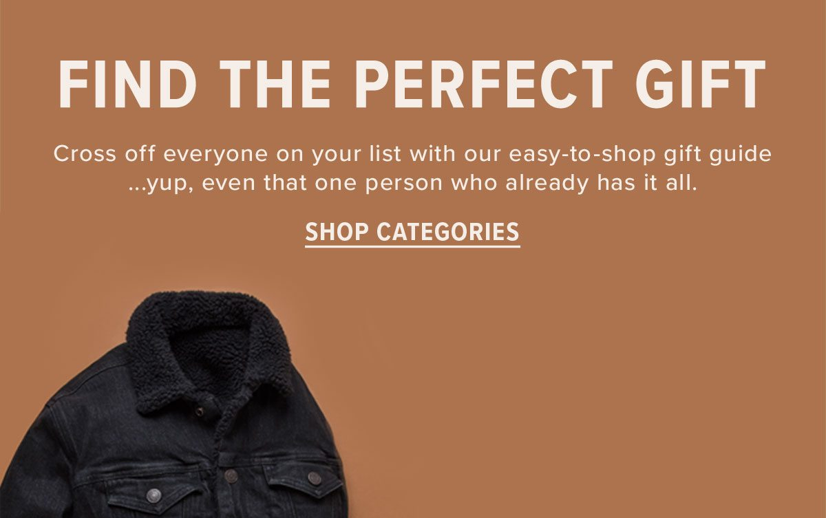 Shop our gift guide categories!