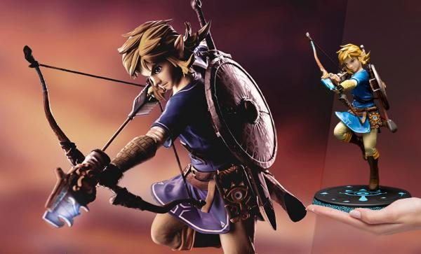FREE U.S. SHIPPING The Legend of Zelda: Breath of the Wild Link Figure by First 4 Figures