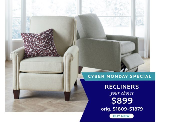 Recliners - Your Choice $899