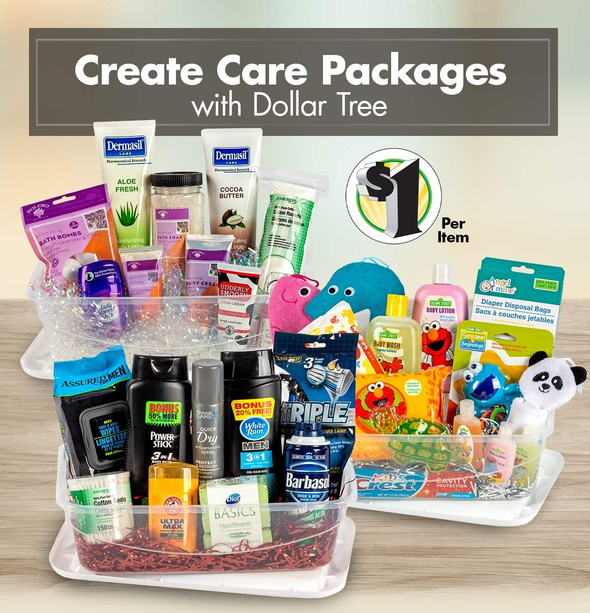 Shop $1 Care Package Supplies
