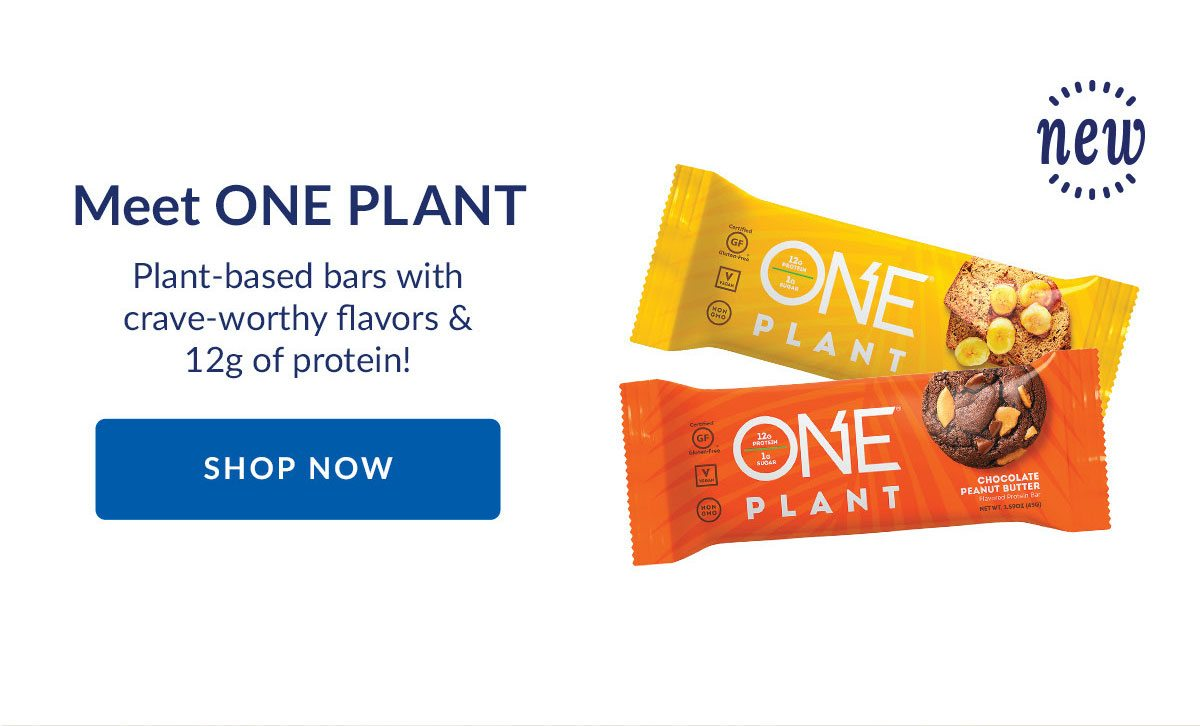 Meet ONE PLANT | Plant-based bars with crave-worthy flavors & 12g of protein! | SHOP NOW
