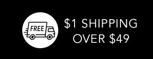 Fast $1 Shipping Over $49